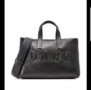 DKNY debossed small zip tote
